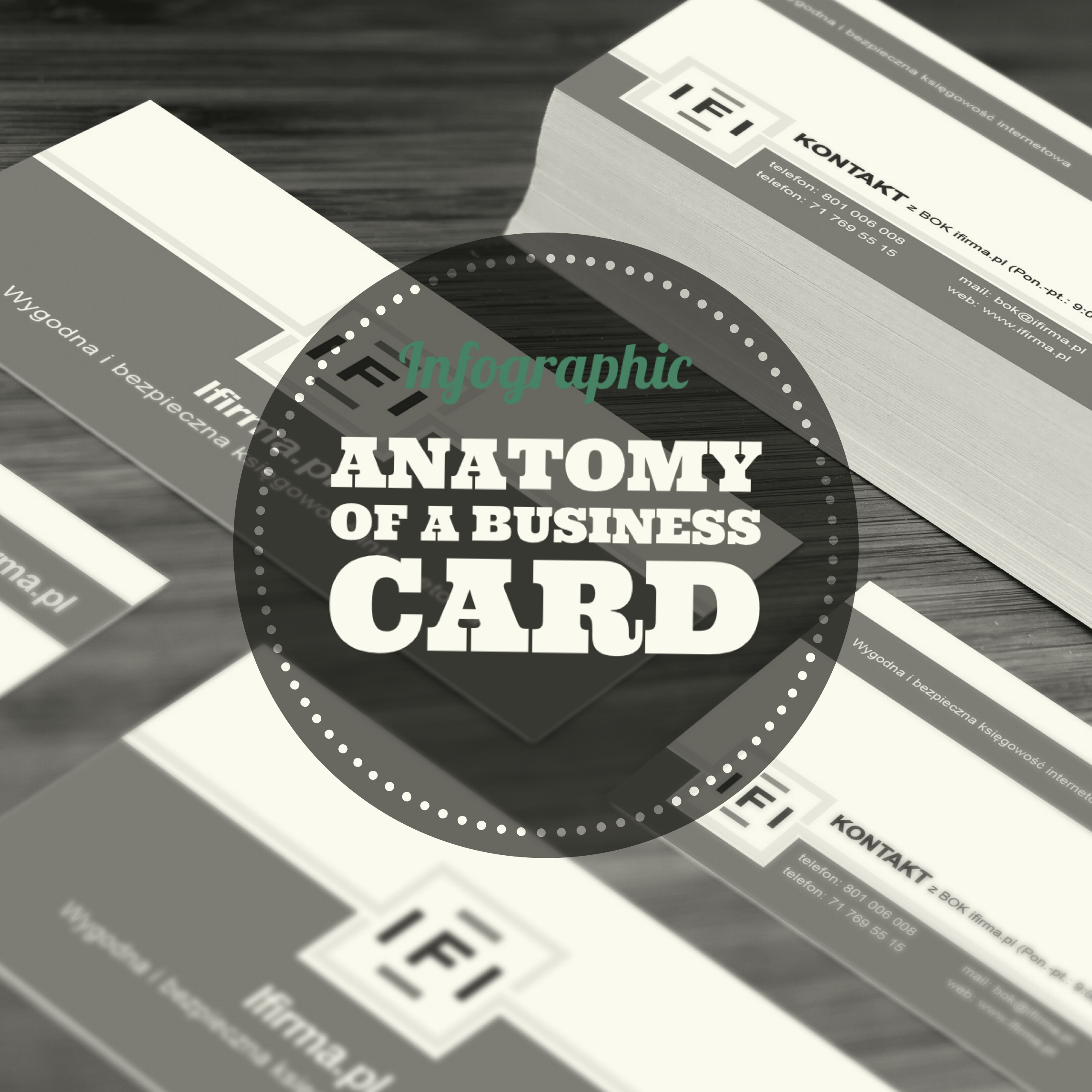 Infographic – Anatomy of a Business Card